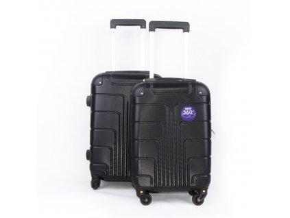 sada palubních kufrů černé