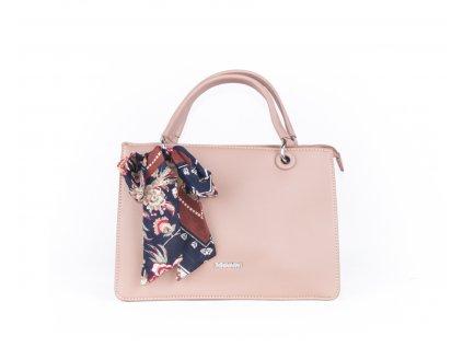 Elegantní kabelka do ruky 4854 růžová