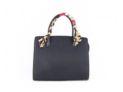 Elegantní kabelka s šátkem 4936 černá