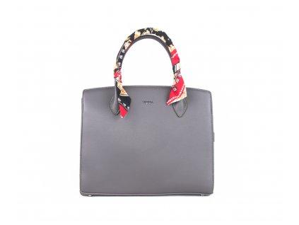 Elegantní kabelka s šátkem 4936 šedá