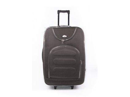 Cestovní kufr s kostičkami 702 khaki M