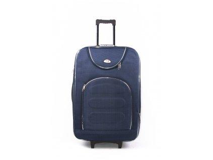 Cestovní kufr s kostičkami 702 modrý L