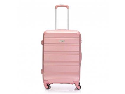 Skořepinový ABS kufr 120340 růžový L