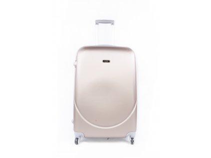 cestovní kufr plastový skořepinový zlatý (1)