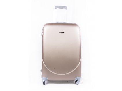 Skořepinový cestovní kufr 2011 champagne M