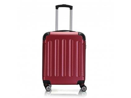 Skořepinový ABS kufr 195-3 červený S