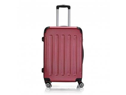 Skořepinový ABS kufr 195-3 červený M