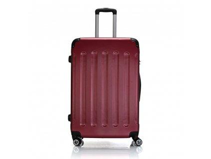 Skořepinový ABS kufr 195-3 červený L