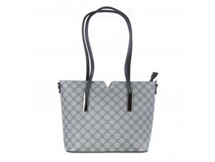 módní kabelka se vzorem a pevným dnem 5203 (1)