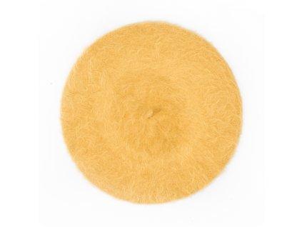Dámský baret B04 žlutý