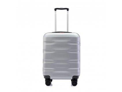 palubní kufr škořepinový 120541 silver stříbrný (1)