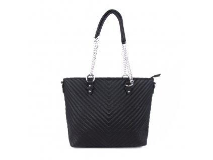 dámská elegantní kabelka shopper s řetízkovým poutkem 5220 (1)