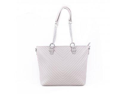 dámská elegantní kabelka shopper s řetízkovým poutkem 5220 (6)
