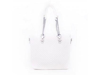 dámská elegantní kabelka shopper s řetízkovým poutkem 5220 (14)