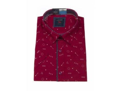 pánská košile krátký rukáv TSK106 1 slimfit (1)