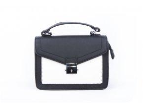 Dámská černobílá taška přes rameno 31h191 black