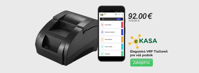 VRP tlačiareň pre virtuálnu pokladňu eKasa