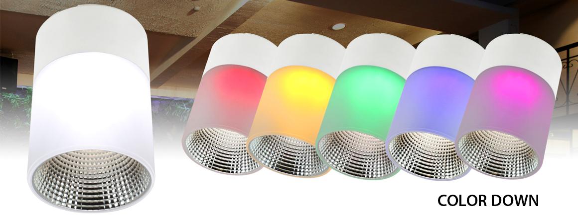 COLOR DOWN - přisazené LED svítidlo