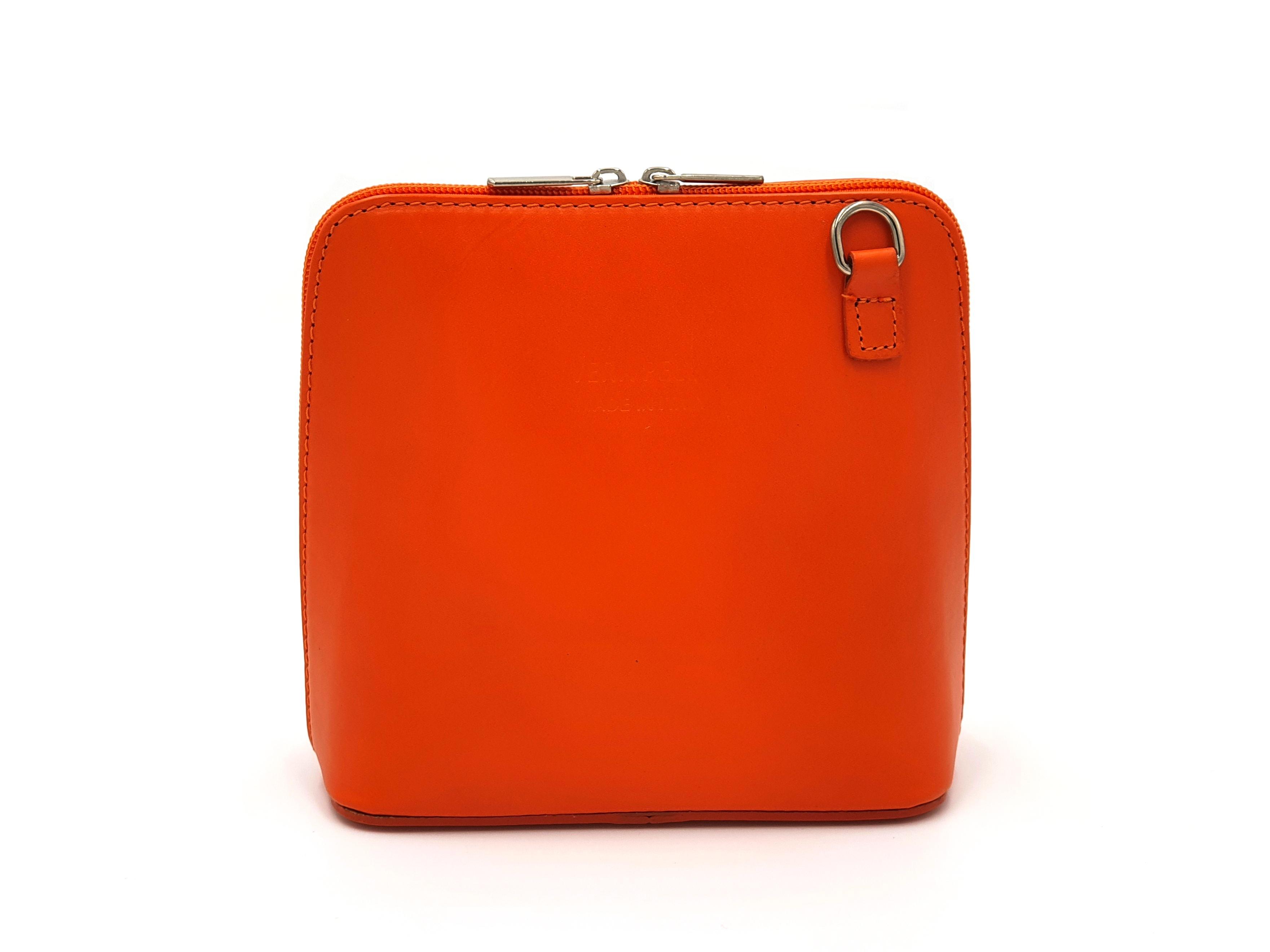 Kožená kabelka 1112 oranžová