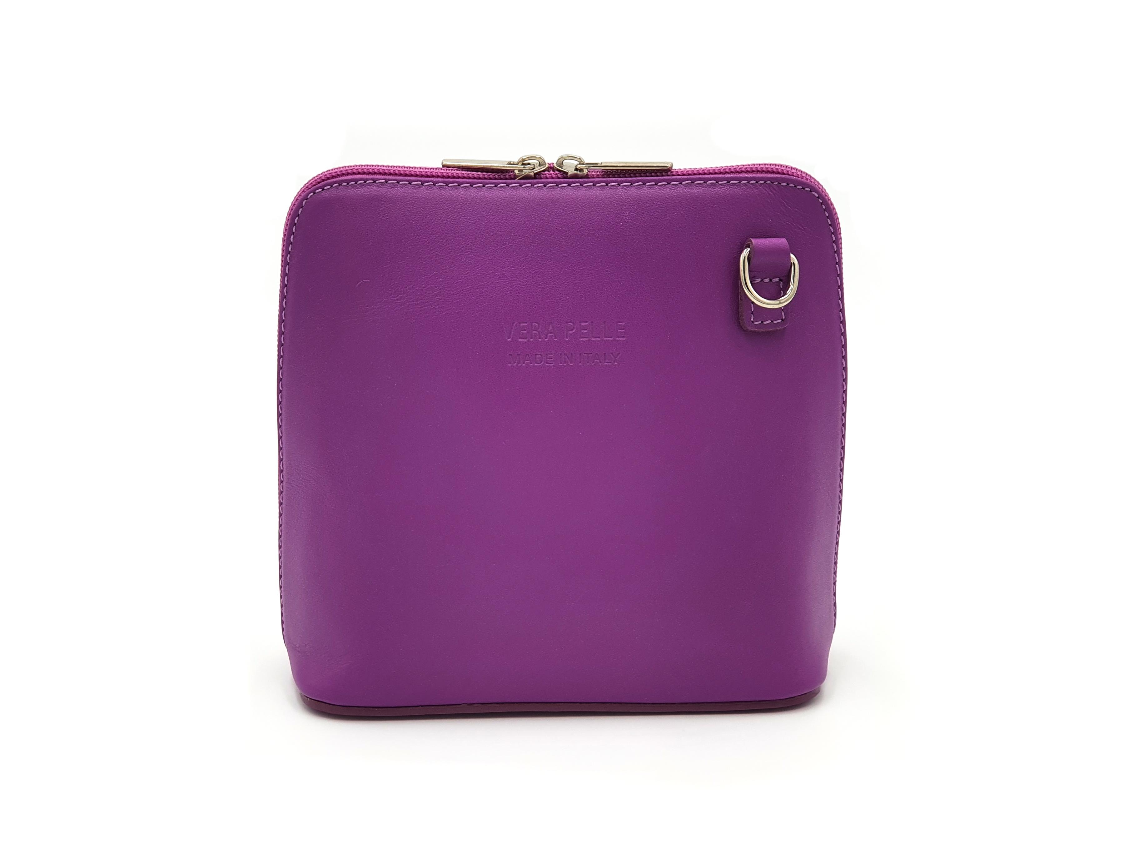 Kožená kabelka 1112 fialová