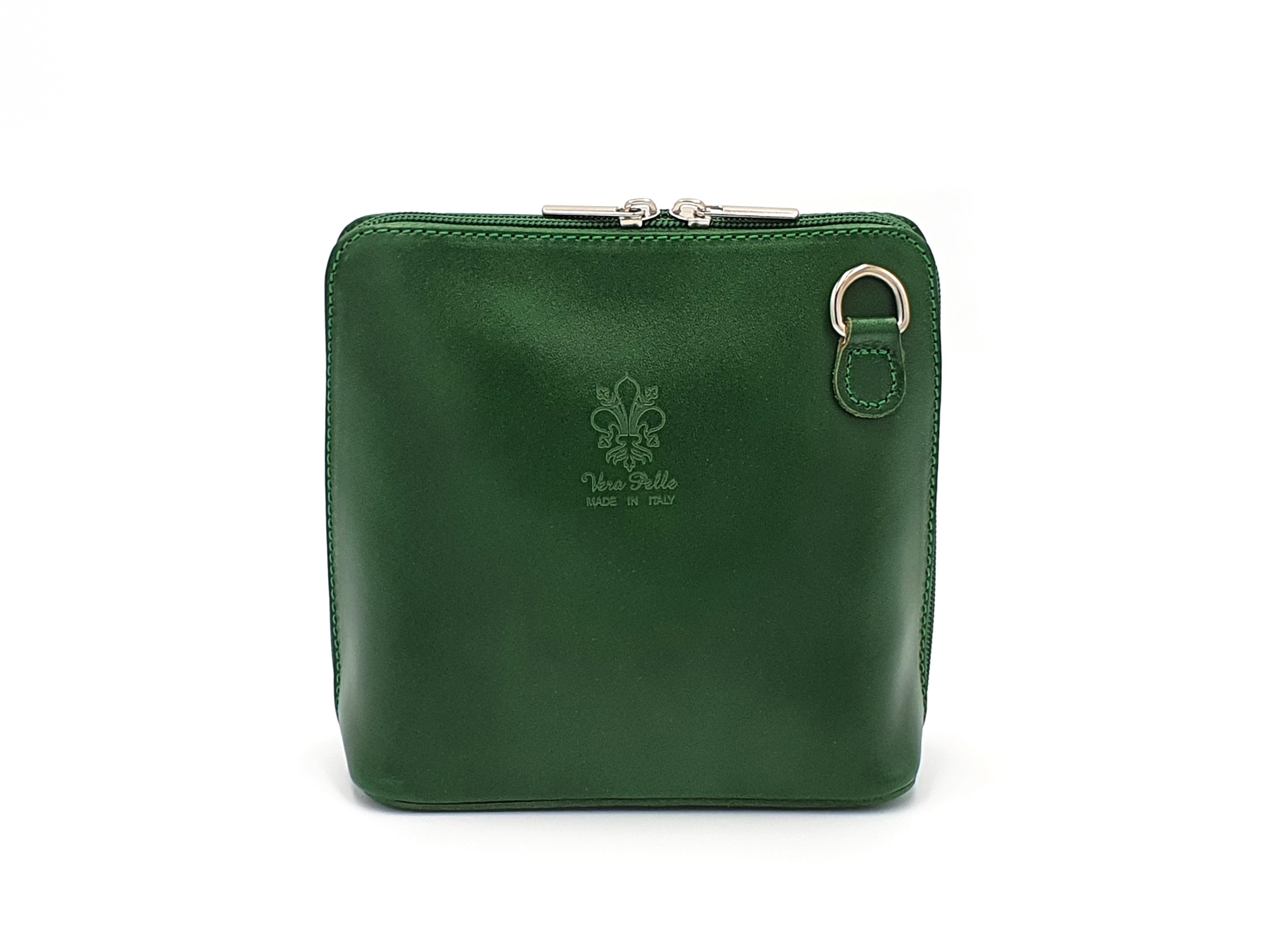 Kožená kabelka 1112 zelená