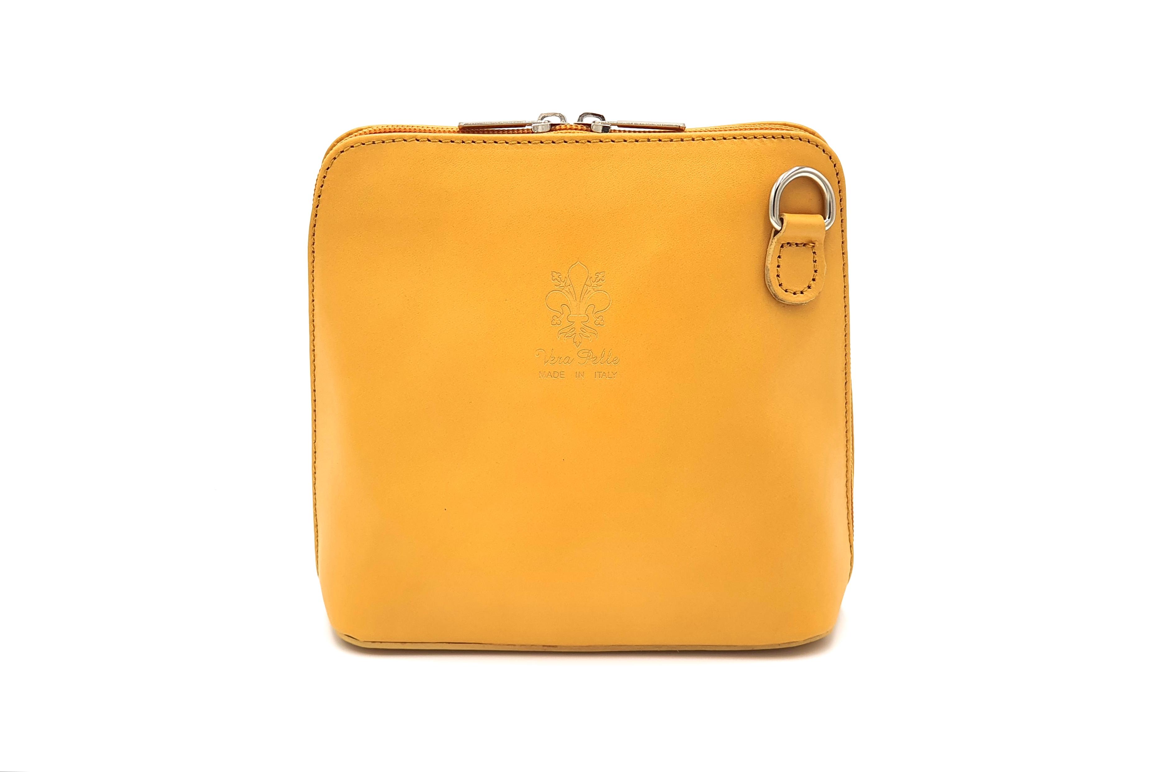 Kožená kabelka 1112 žlutá