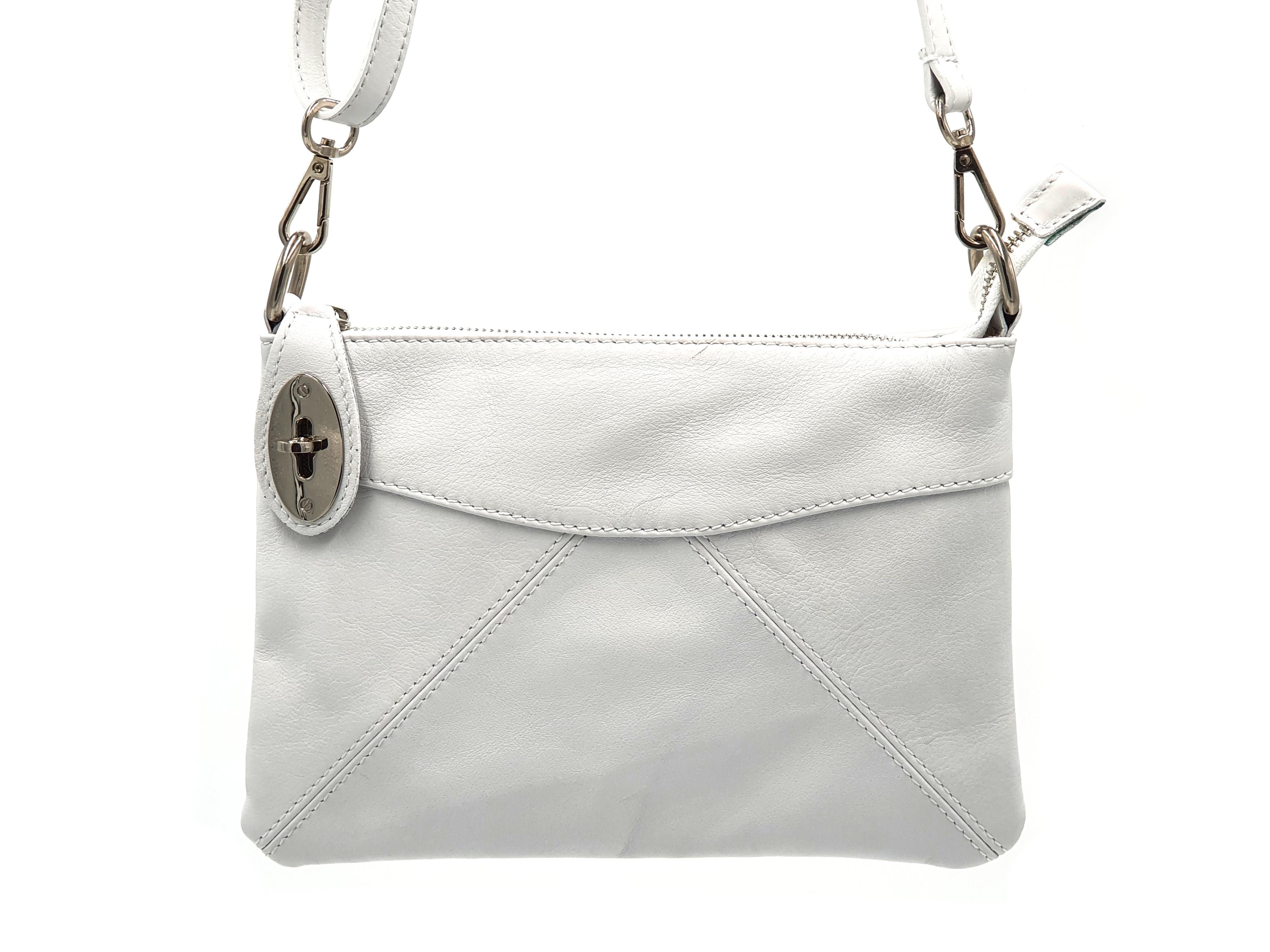 Kožená kabelka Ara 10 bílá