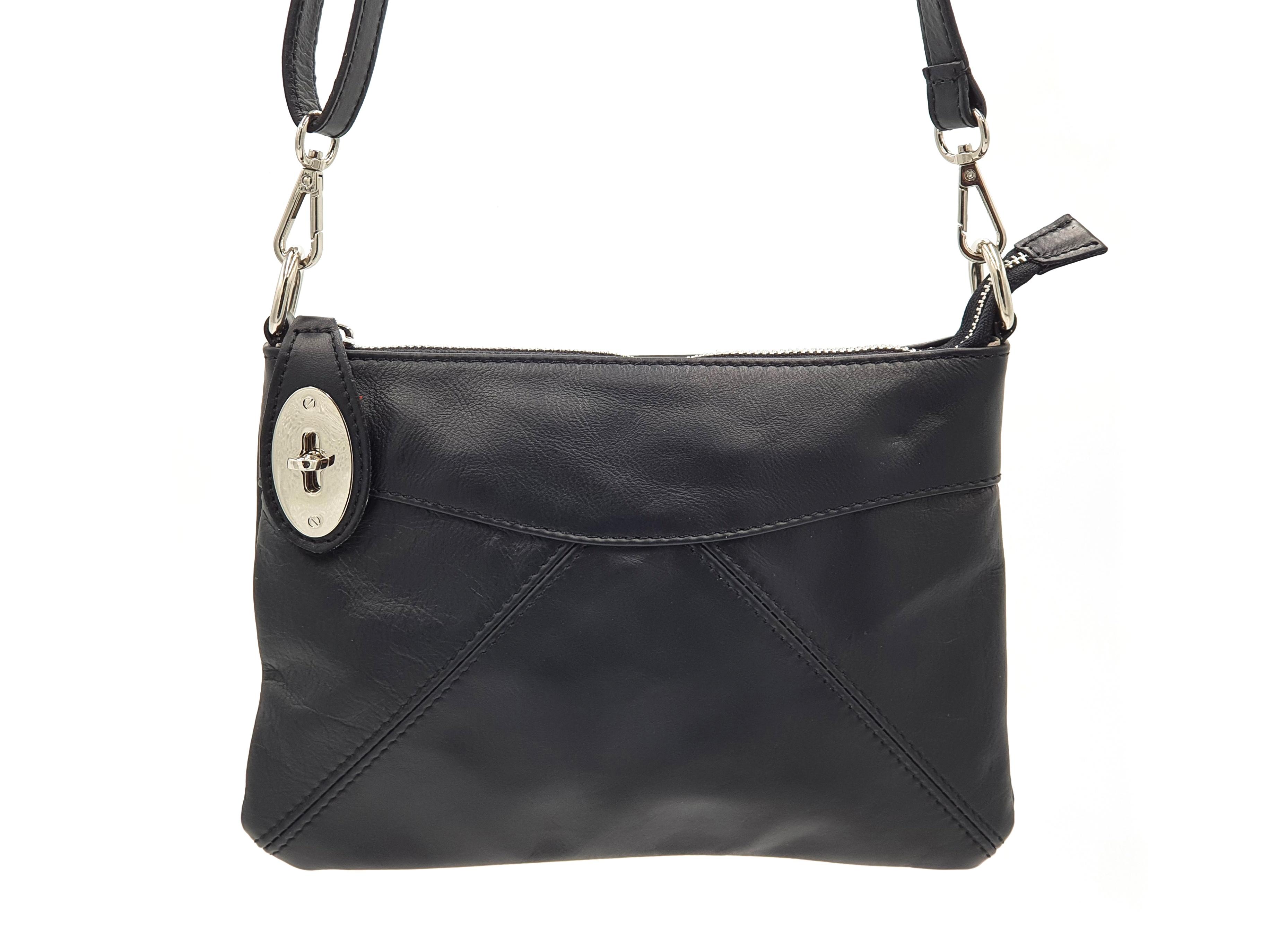 Kožená kabelka Ara 10 černá
