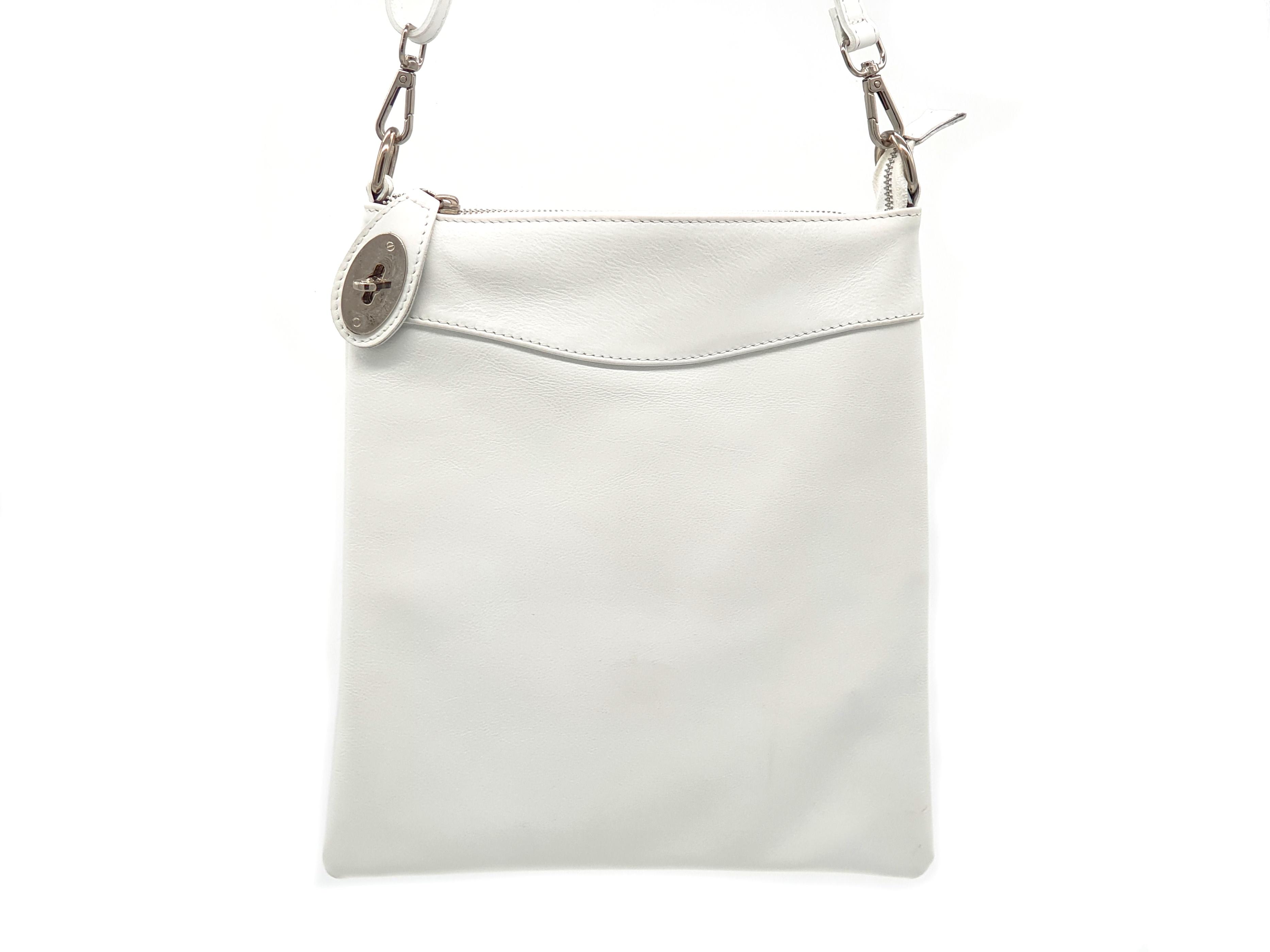Kožená kabelka Ara 15 bílá