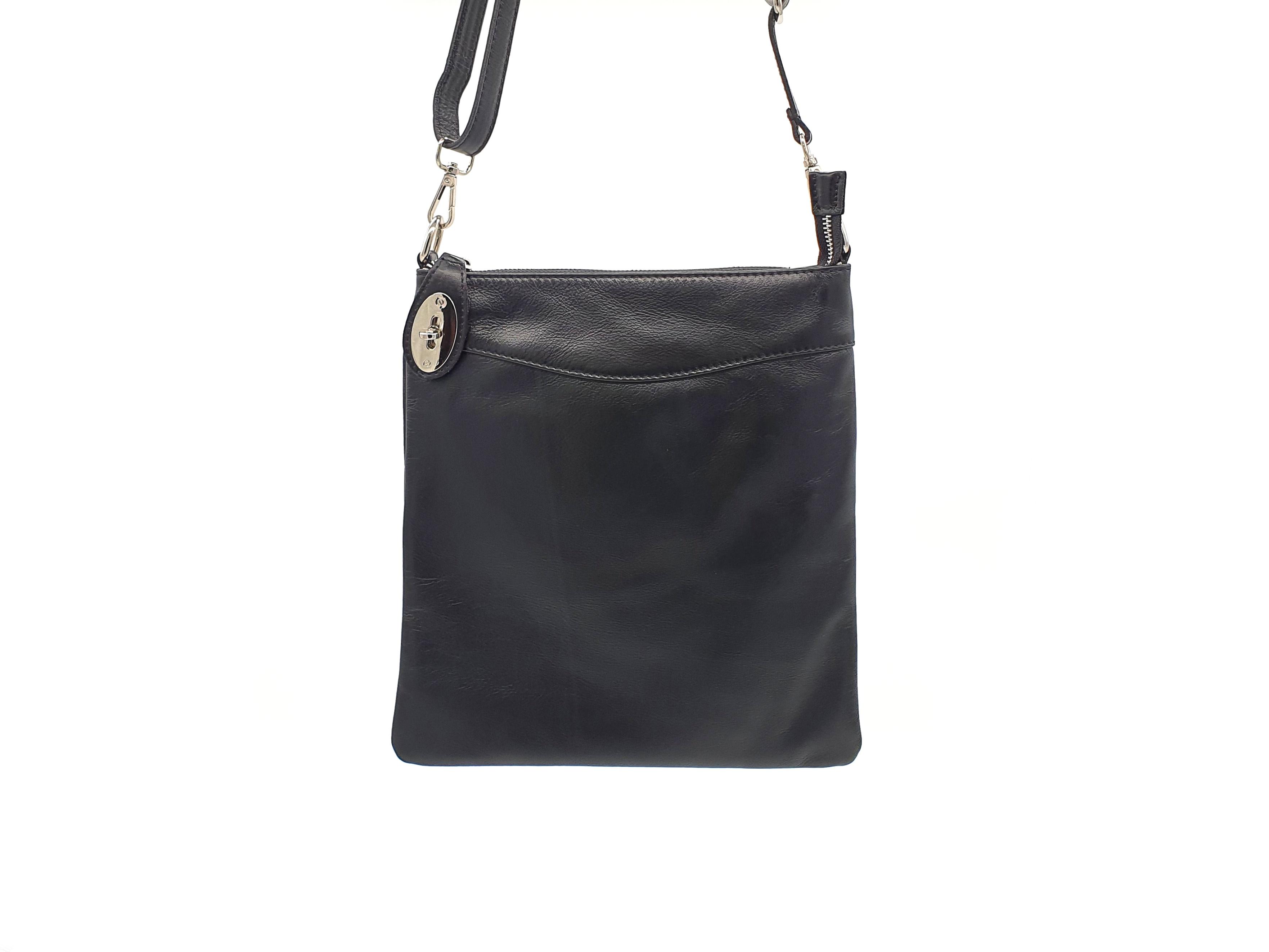Kožená kabelka Ara 15 černá