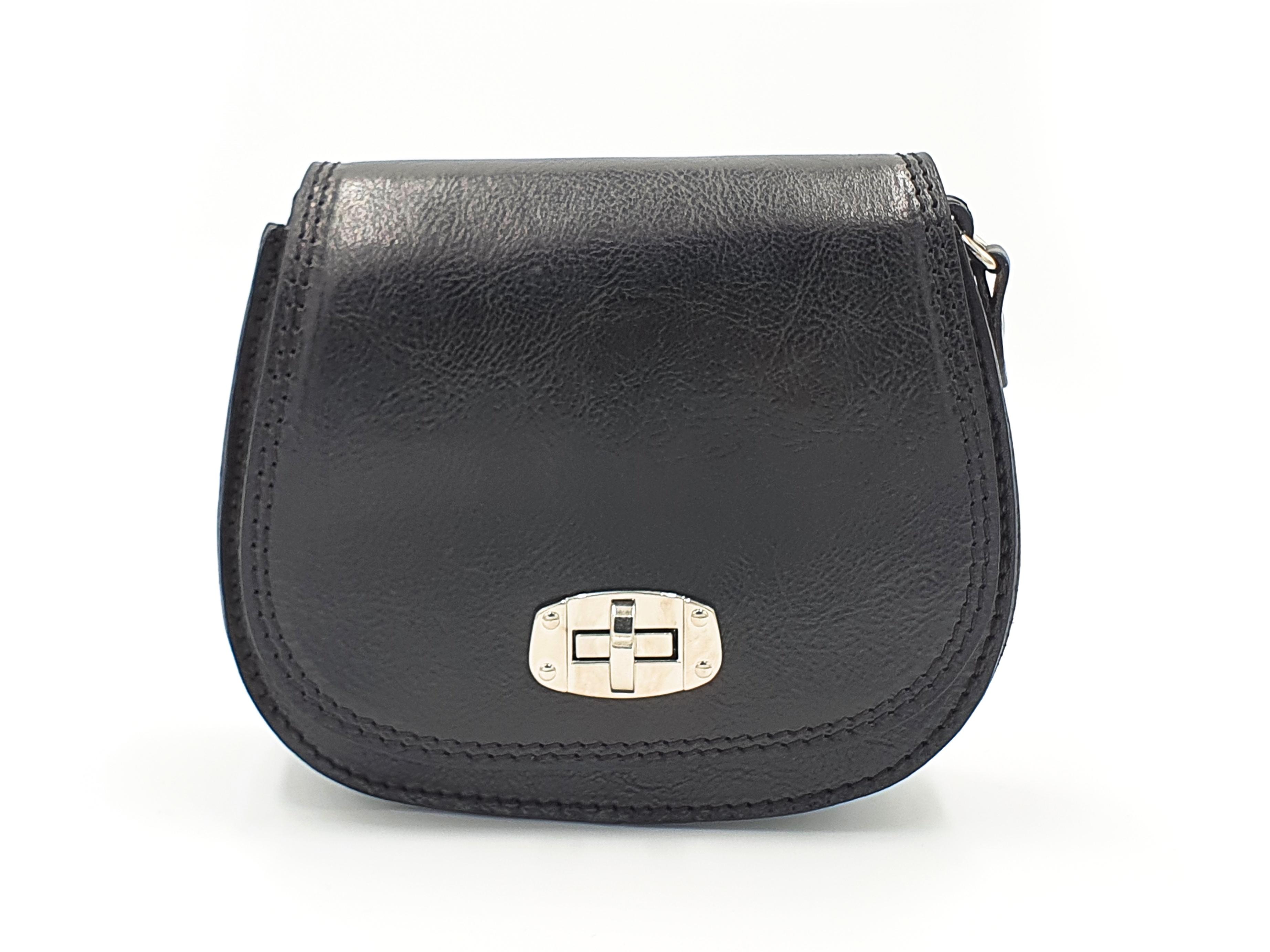 Kožená kabelka Chleb 10 černá
