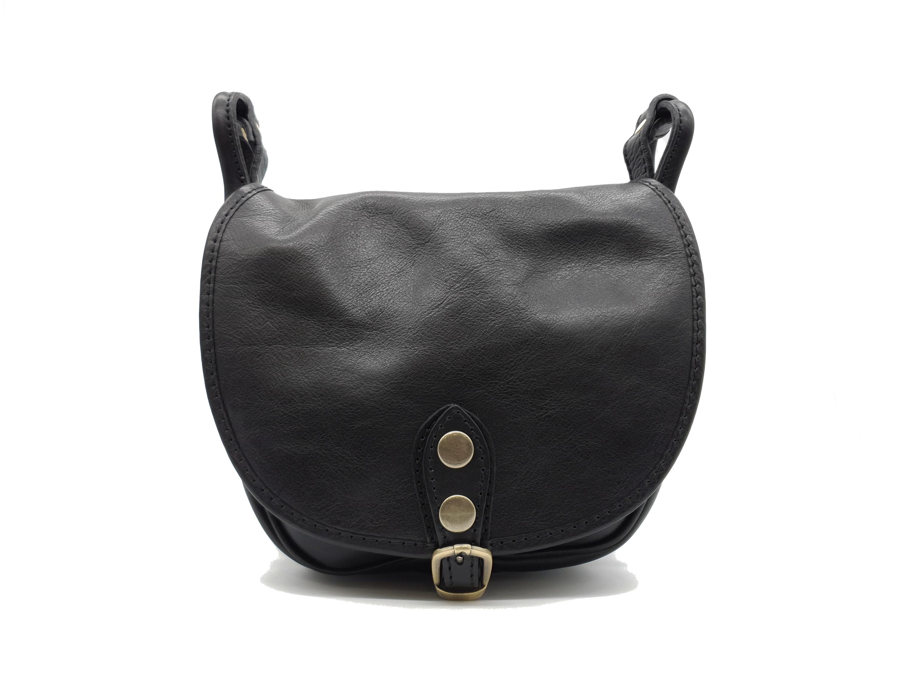 Kožená kabelka Chleb M černá