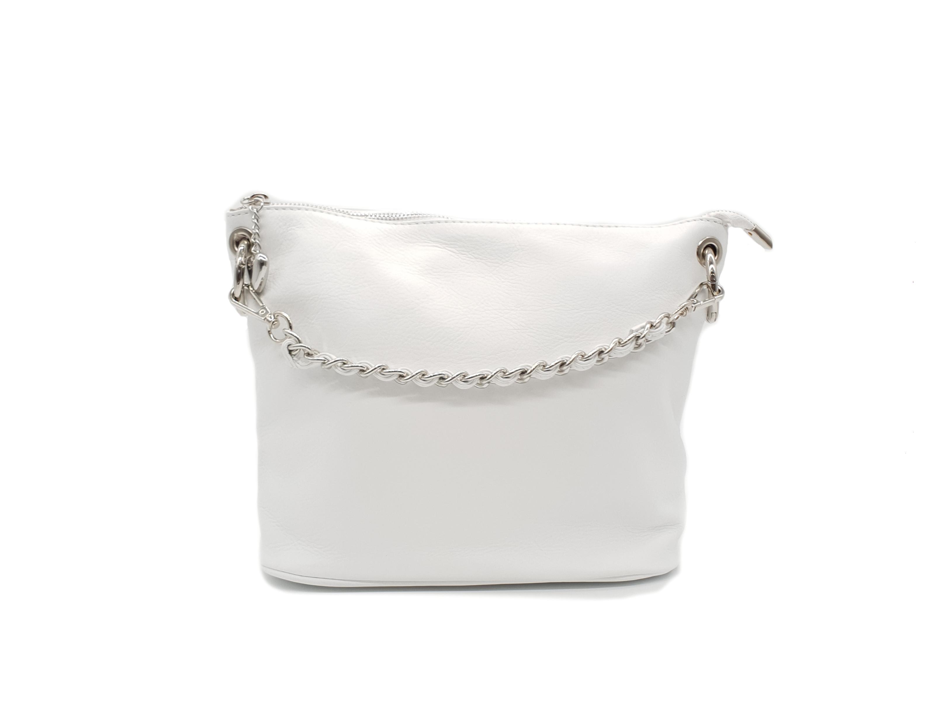 Kožená kabelka S 1313 bílá