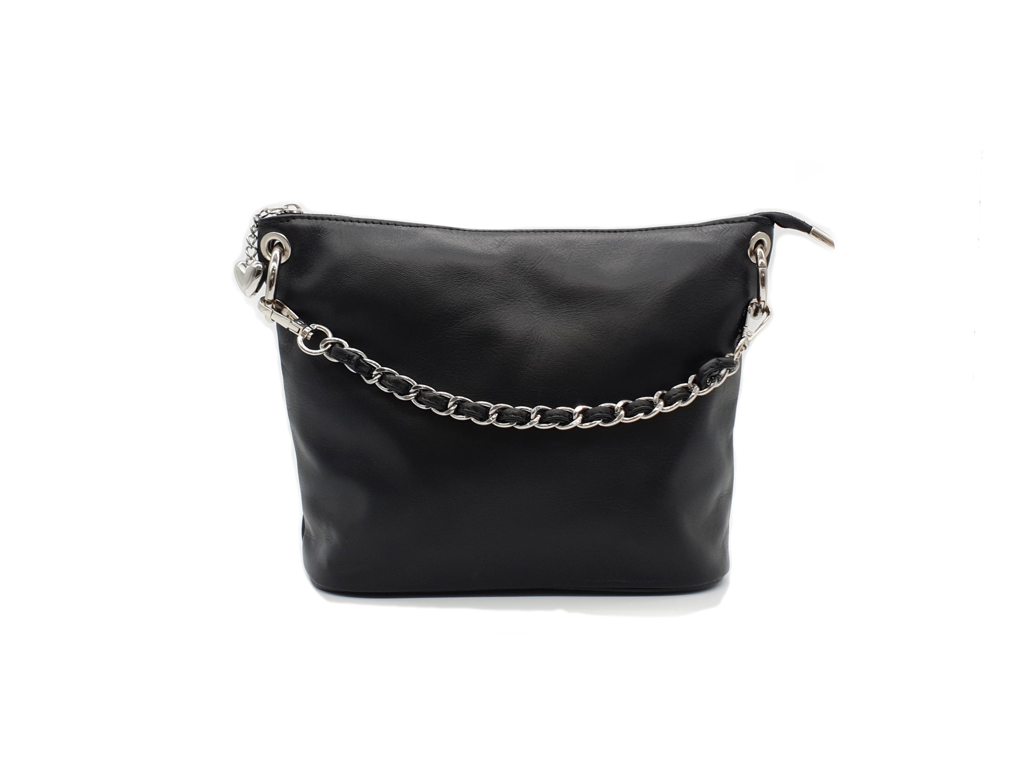 Kožená kabelka S 1313 černá