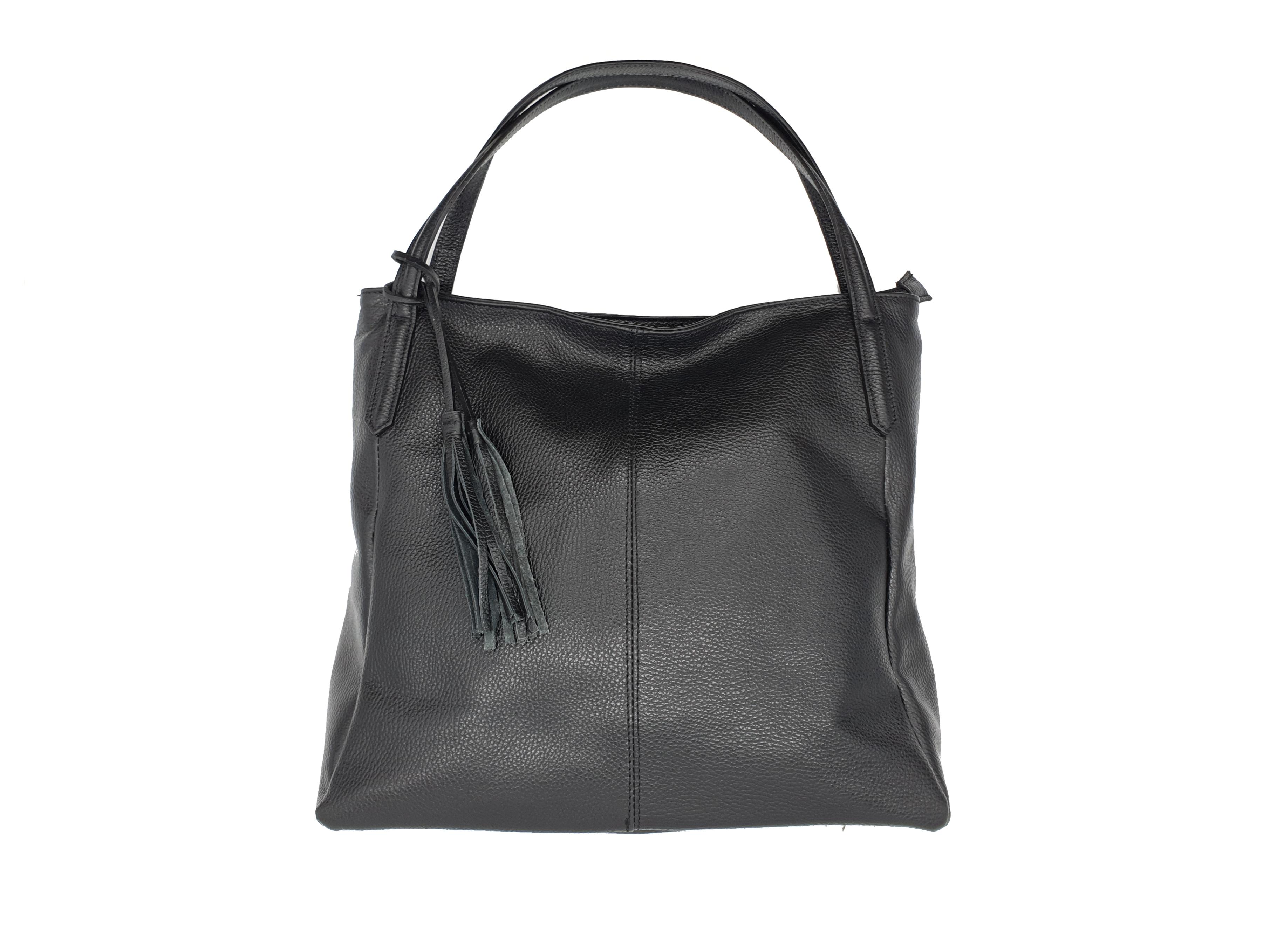 Kožená kabelka PP 23 černá