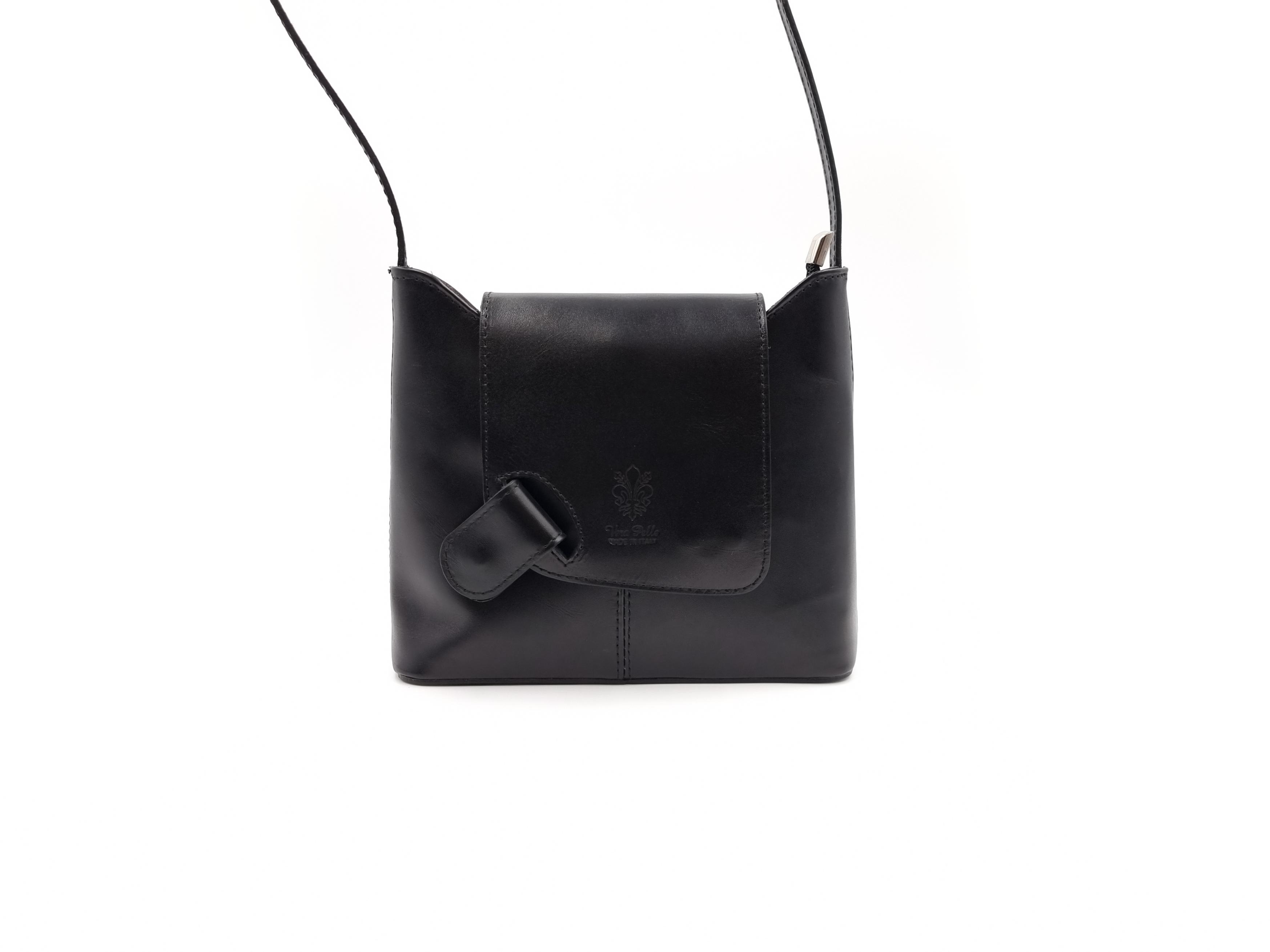 Kožená kabelka T 1512 černá