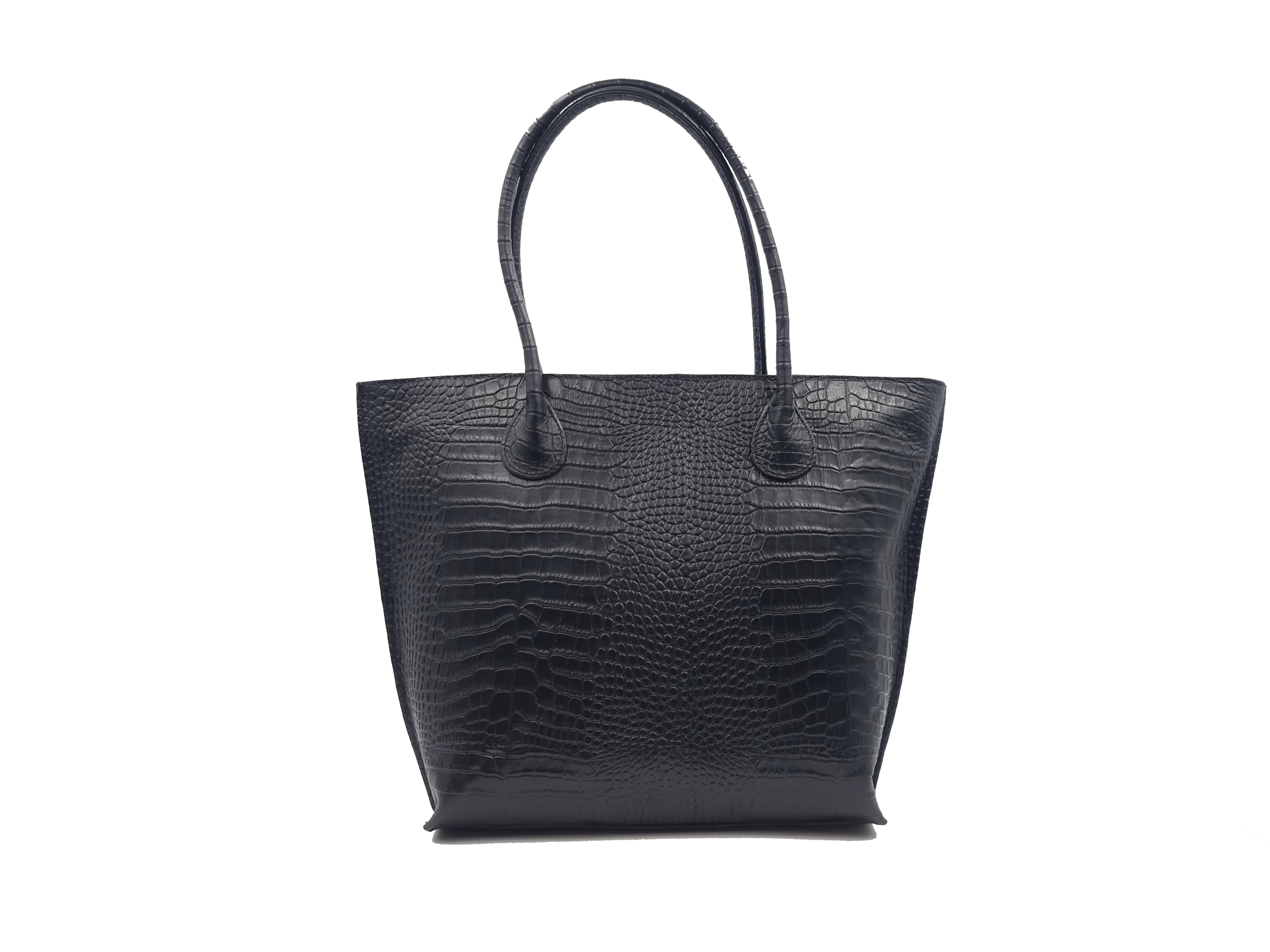 Kožená kabelka LOLO černá kroko