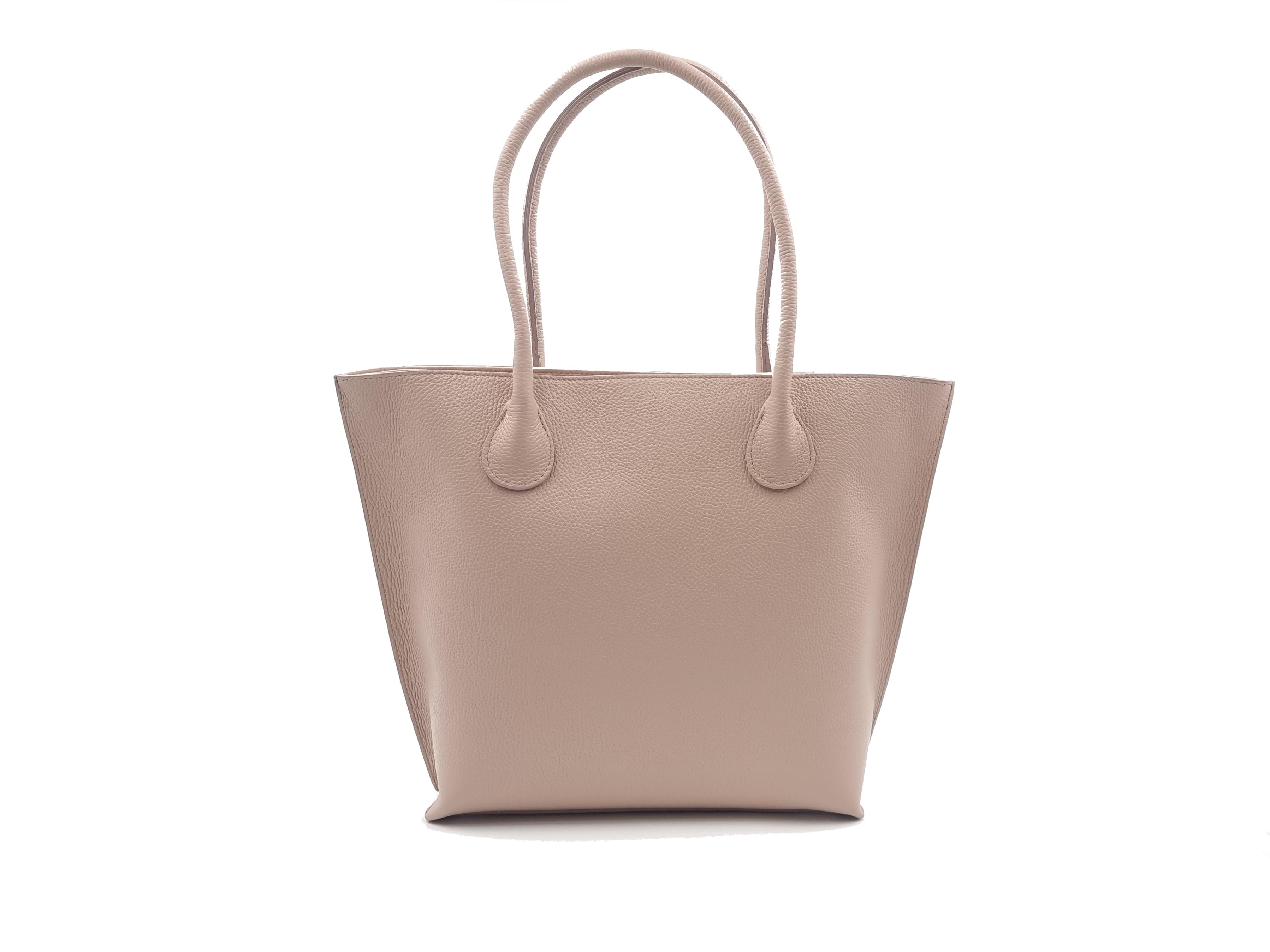 Kožená kabelka LOLO růžová