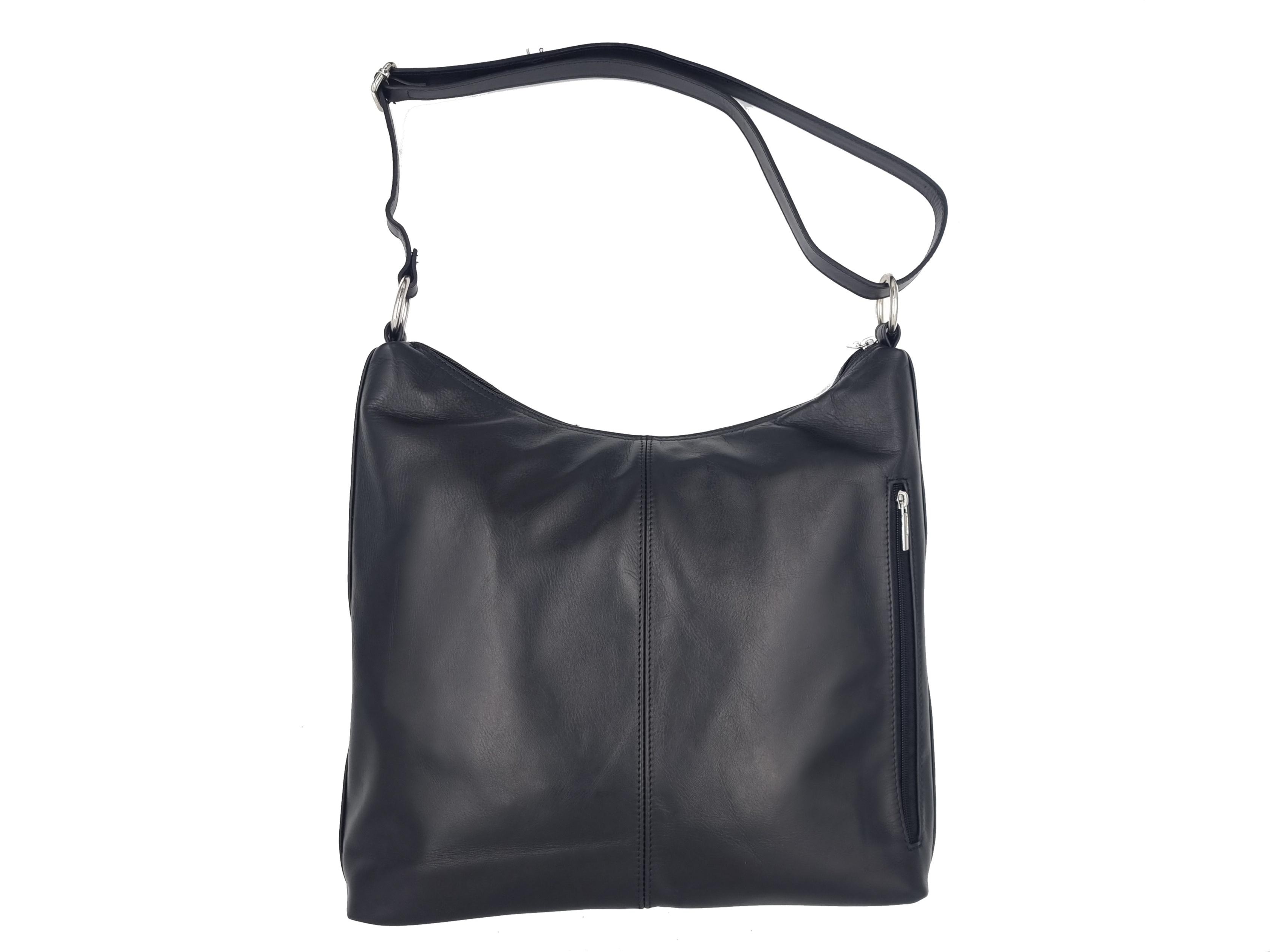 Kožená kabelka PYT 01 černá