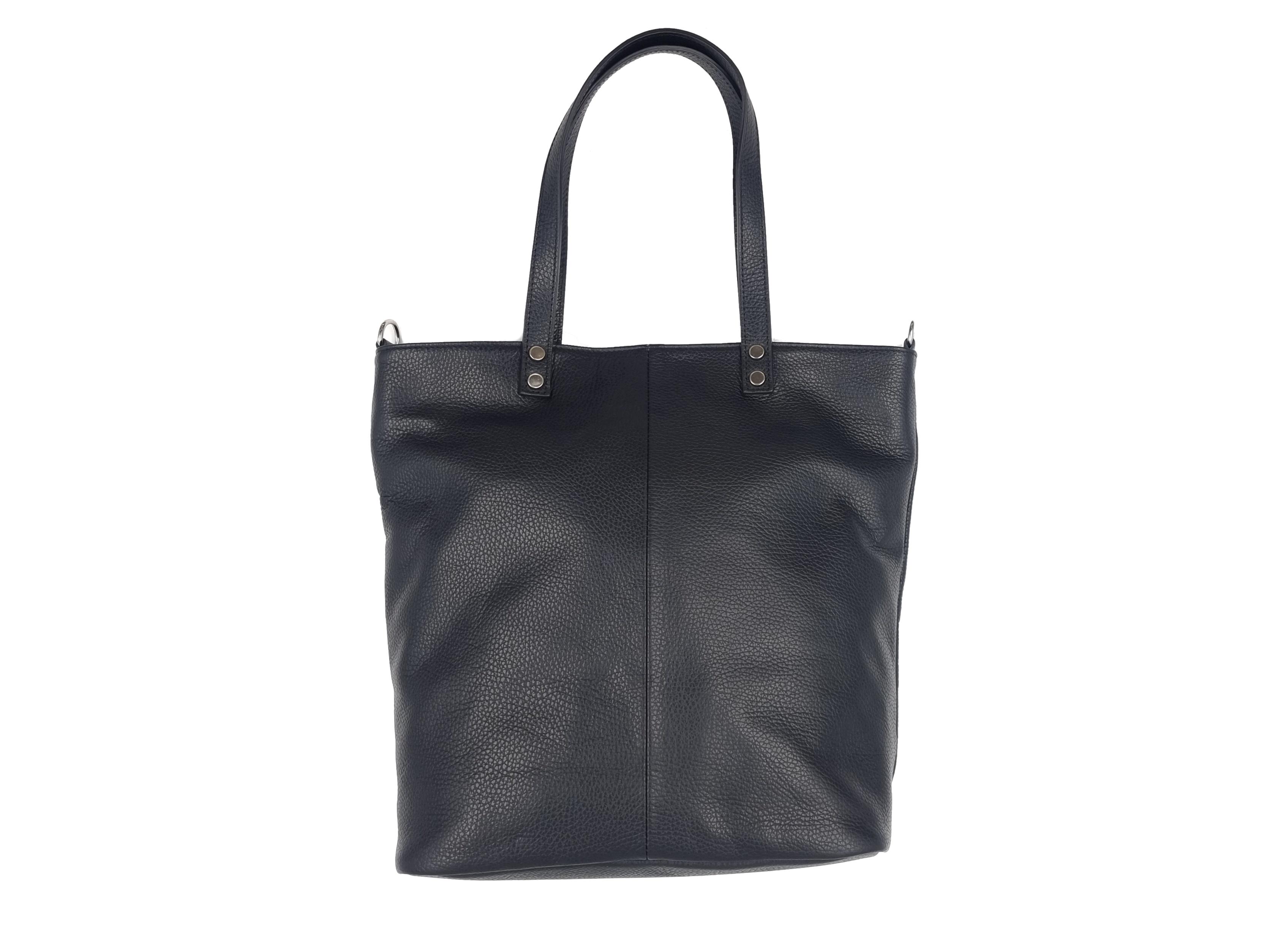 Kožená kabelka VAK 16T černá