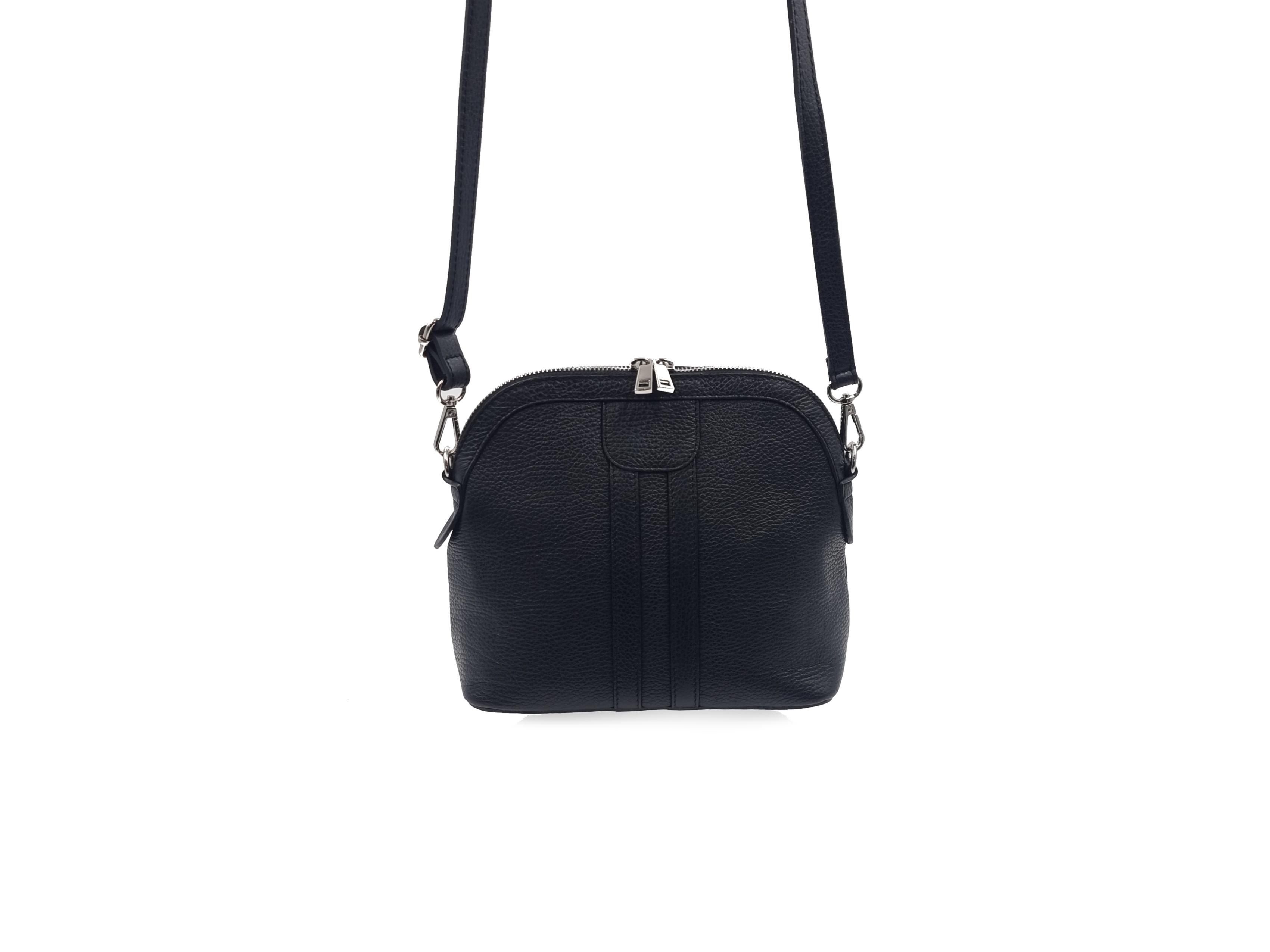 Kožená kabelka 1414 černá