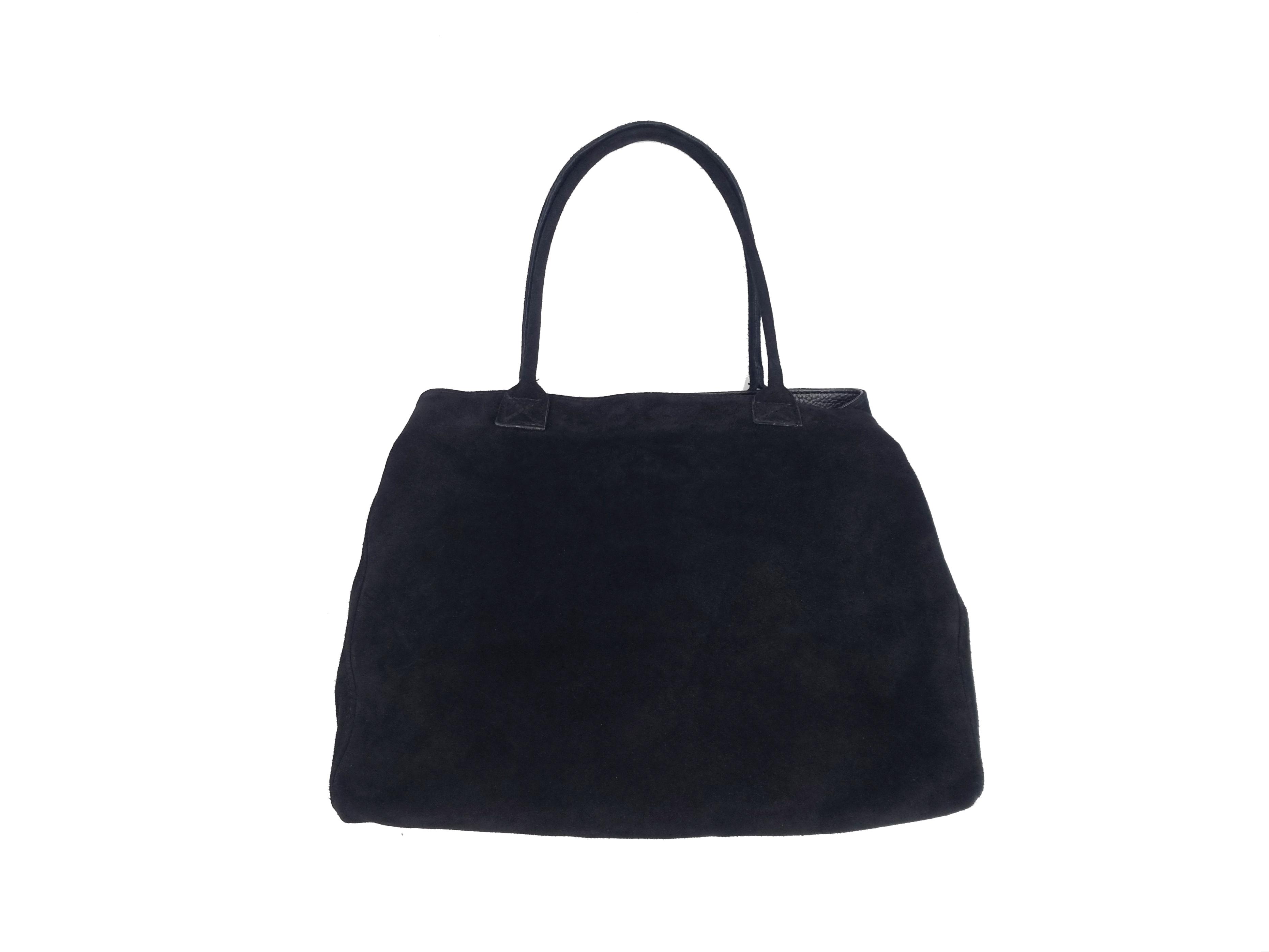 Kožená kabelka SEM černá