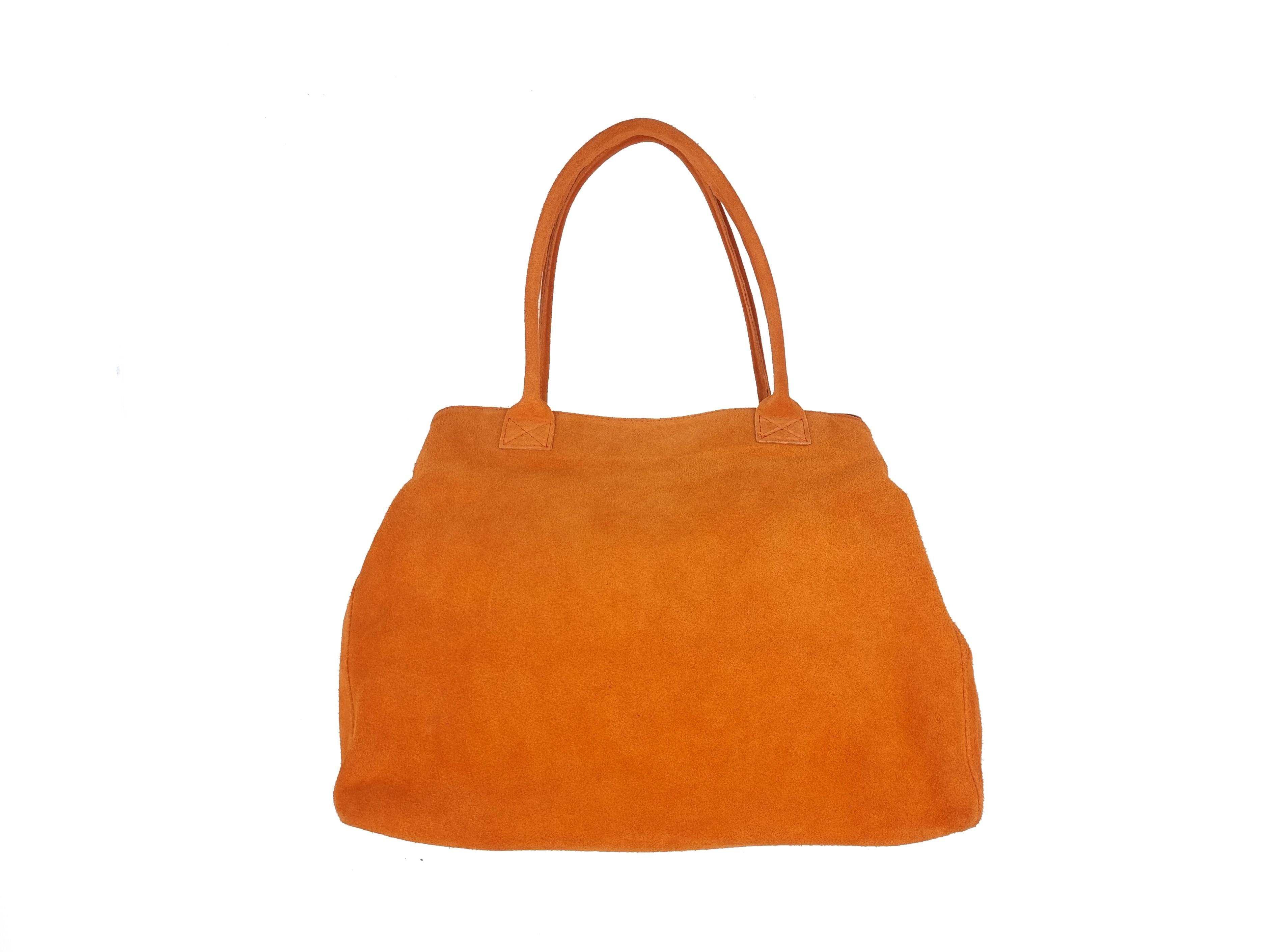 Kožená kabelka SEM oranžová