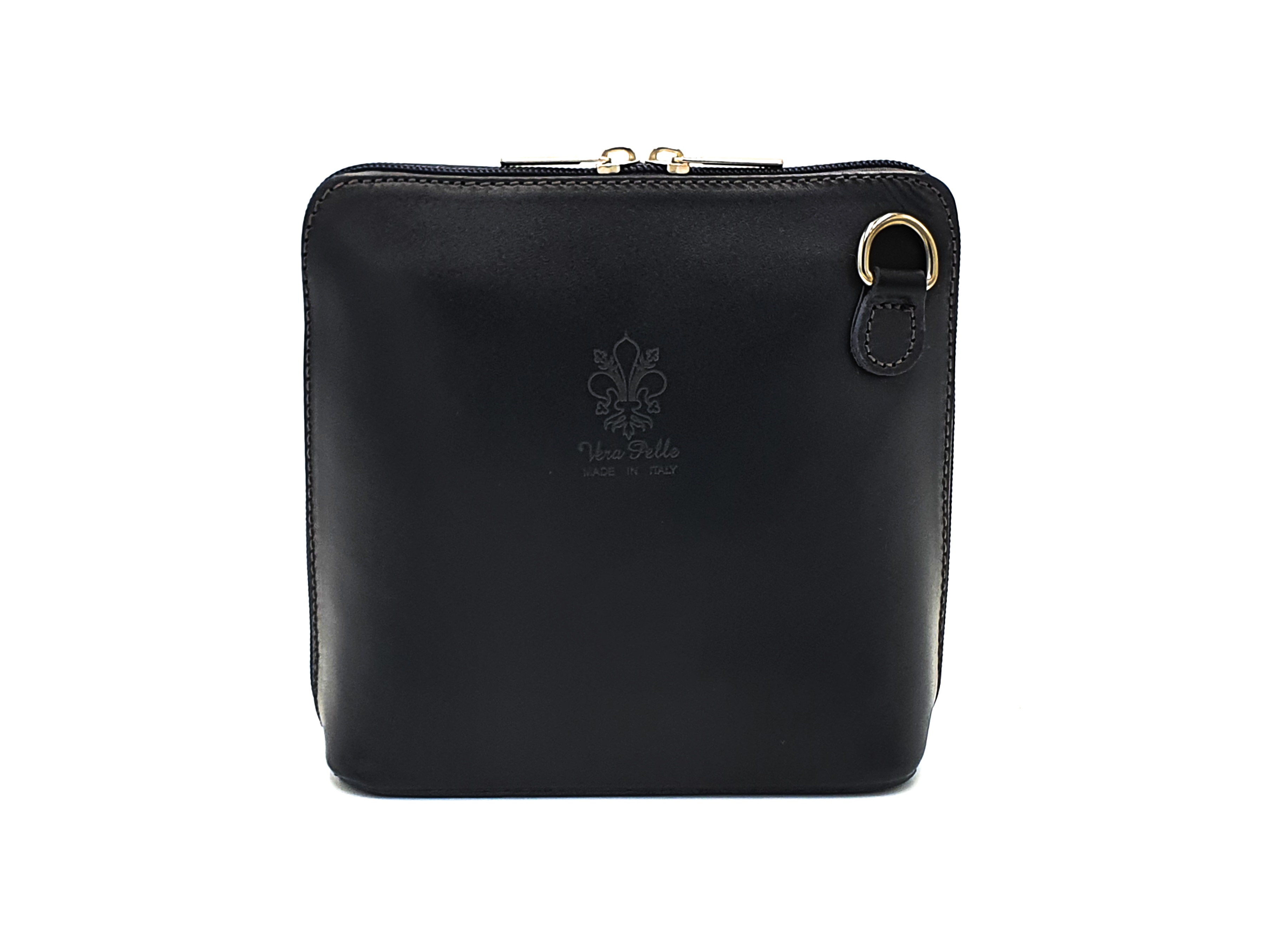 Kožená kabelka 1112 černá