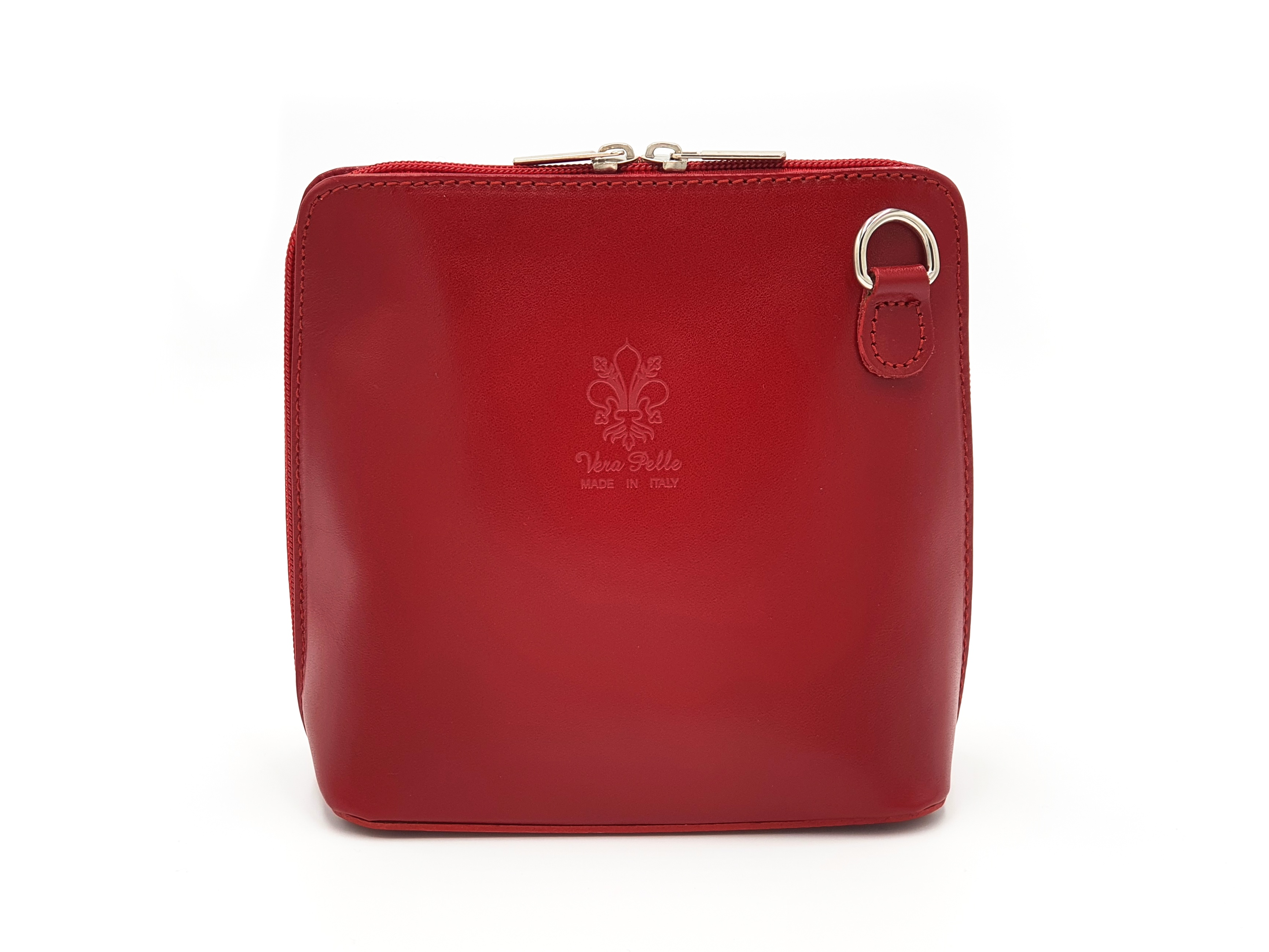 Kožená kabelka 1112 červená