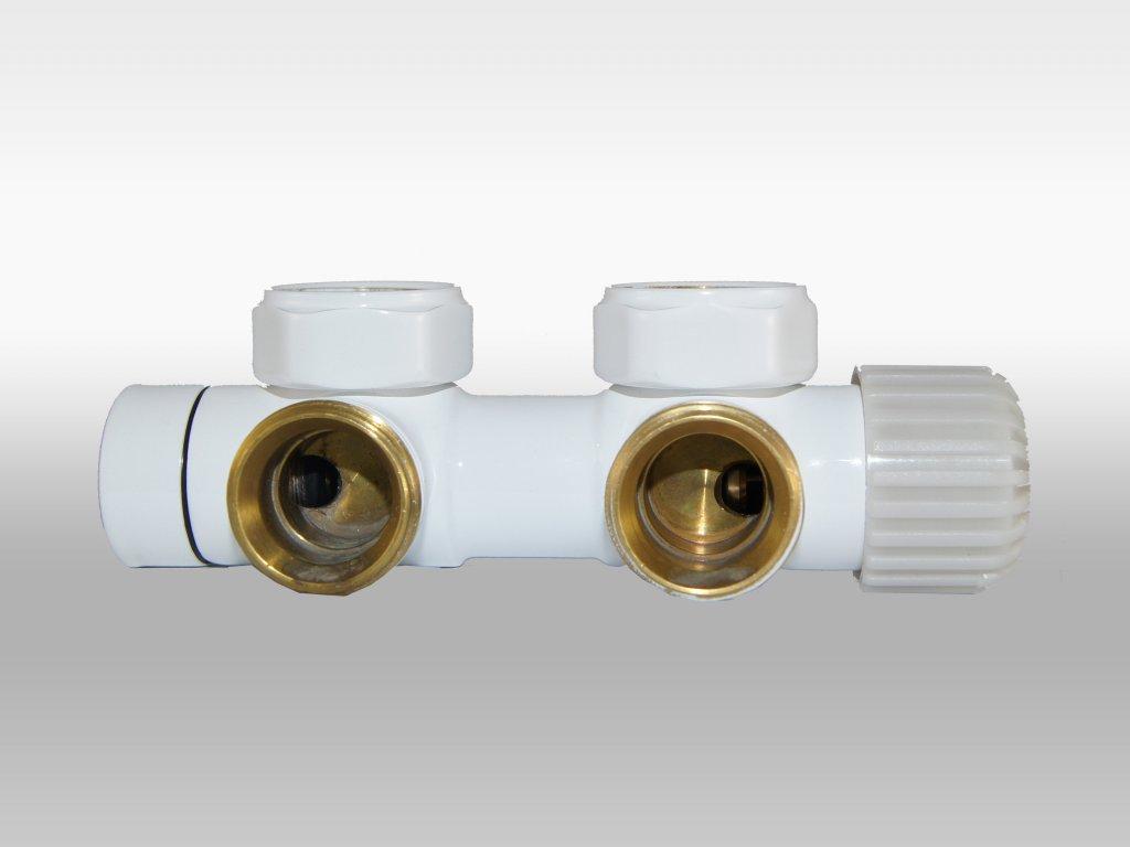 Termostatický ventil Twins, středové připojení, 50mm