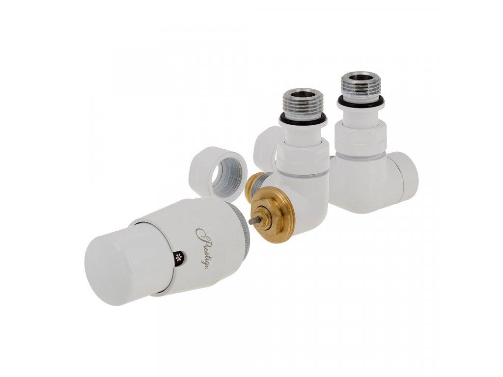 Termostatický ventil Vision, základní sada, středové připojení, bílá, levé