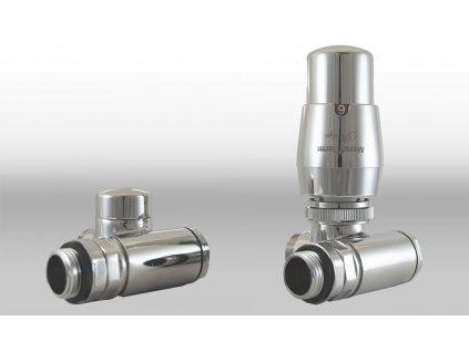 Termostatický ventil Integra, klasické připojení, možnost přímé instalace topné tyče