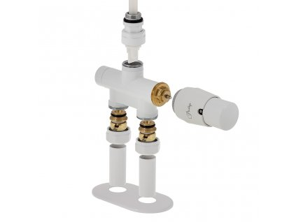 Termostatický ventil 352, jednobodobé přímé provedení, bílá