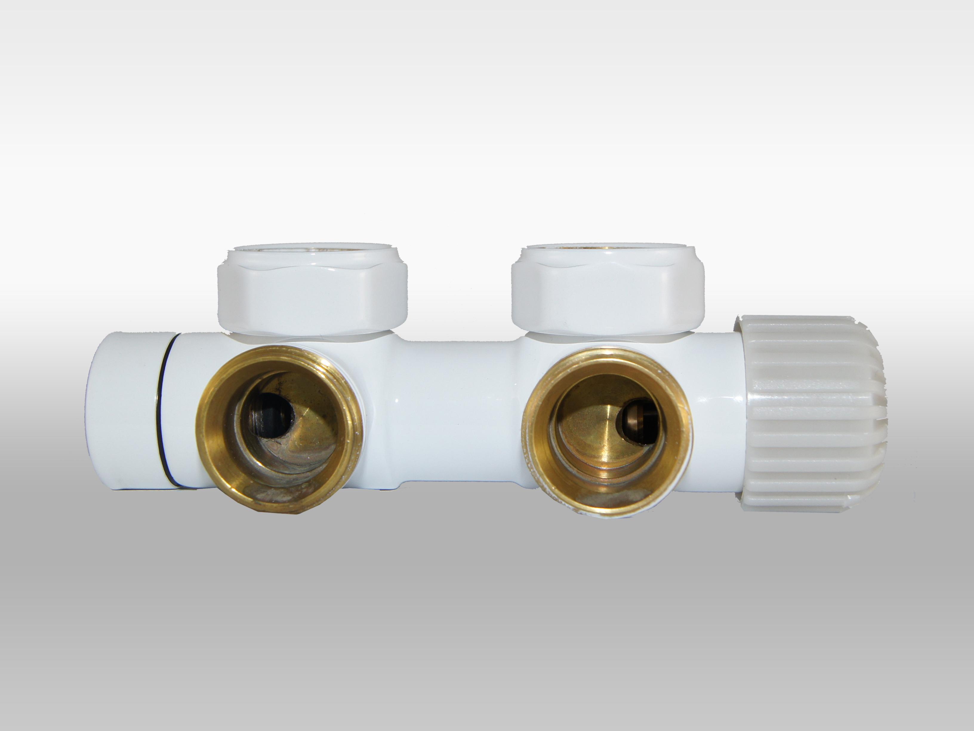 Vario Term Termostatický ventil Twins, středové připojení, 50mm Barva: Matný grafit, Provedení: Levé